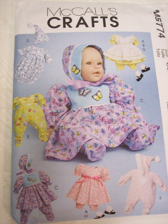 Bitty Baby Doll Clothes Pattern McCalls 5774