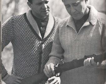 Men's Shawl Collar Cardigan Pattern (LEFT) (MenBern)