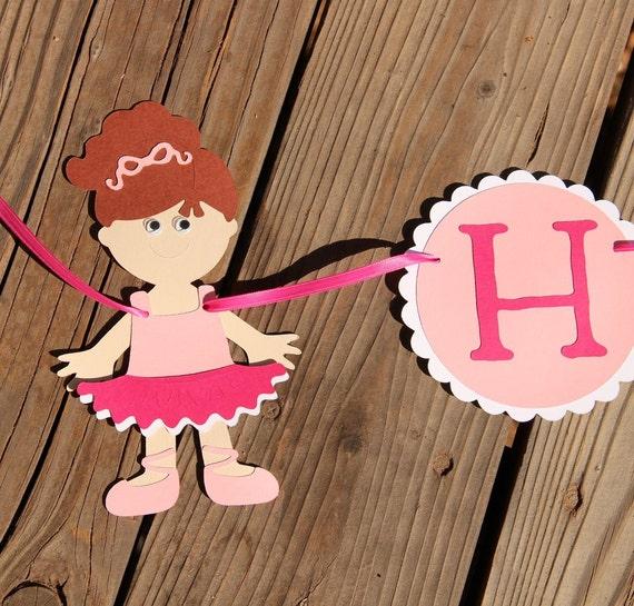 Items Similar To Ballerina HAPPY BIRTHDAY Banner- Custom