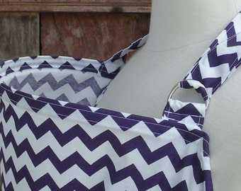 Nursing Cover-Purple Chevron-Free Shipping When Purchased With A Wrap
