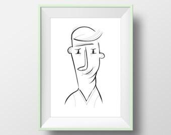 Customized portrait illustration