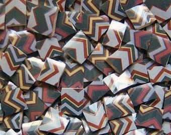 Mosaic Tiles--Gray Chevron/ Zig Zag Design--100 Tiles-Sale