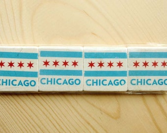 Chicago Flag Magnet Series - Set of 4 - Two inch magnets