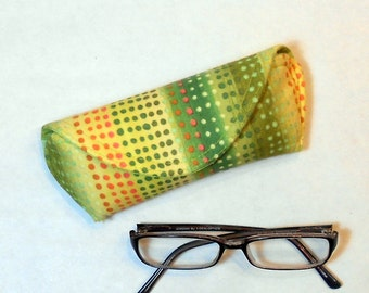 Eye Glass Case or Sun Glass Case - Dot Patches
