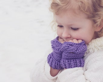 PDF Crochet Pattern for Twisted Toddler Fingerless Gloves - Permission To Sell Finished Items