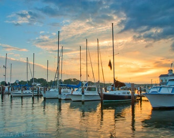 Solomons Island Southern Maryland Boats Photograph Fishing Crabbing Town Sunrise Sunset Fisherman Crabman, Oysterman, Beach, Chesapeake Bay