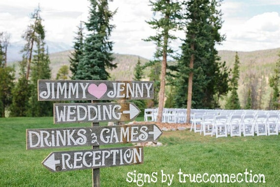 Items Similar To Outdoor Wedding Signs & Stake Large Font