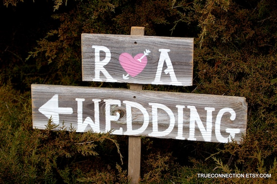 Rustic Wood Wedding Signs Romantic Outdoor By TRUECONNECTION