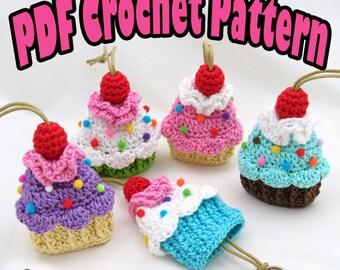 PDF Amigurumi / Crochet Pattern Cupcake Key Cozy CP-14-3219