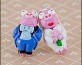 Simpsons Piggie Cufflinks (Made to Order)
