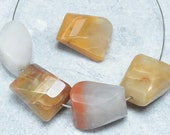 19x15x10mm natural agate gemstone faceted irregular beads  findings jewelry supplies gems DRW88