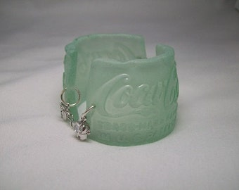 Upcycled Vintage Coca-Cola Bottle Bracelet - Sterling Silver