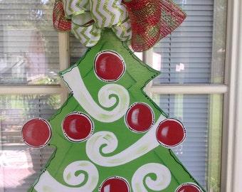 Christmas tree door hanger by Shirleys treasures IN STOCK!