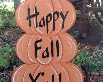 Fall yard art, pumpkin yard art, yard decorations, fall yard decoration.