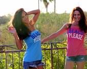 Beach, Please. Feel Naked Tshirt Tubes.  Azalea Pink or Light Blue.  One Size.