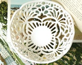 Small Carved Porcelain Lace Bowl