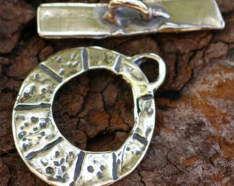 Round Lined Toggle in Sterling Silver -57A/B