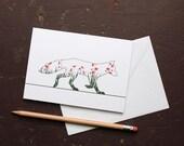 Poppy Fox Greetings Card