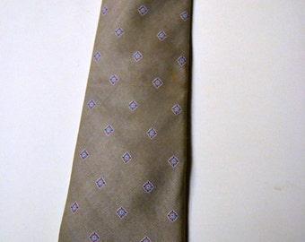 Vintage Men's Silk Skinny Necktie Kuppenheimer Champagne