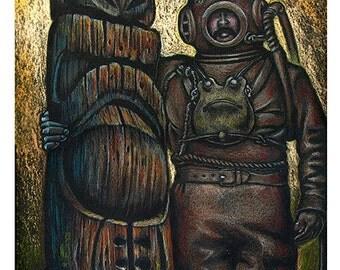 Doug Horne limited edition art print Deep Sea Haul