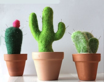 Cactus pin cushion Needle Felting Kit