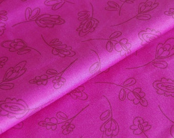 SALE Floret Raspberry - New Leaf Collection - organic cotton fabric by Daisy Janie