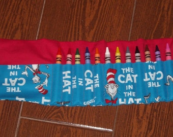 Cat in the Hat crayon roll