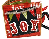 JOY Christmas Scrapbook - Holiday Paper Bag Mini Album