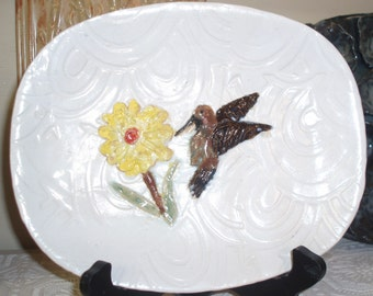 Hand carved and hand painted plate