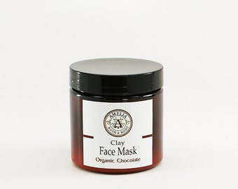 Chocolate Face Mask | Organic Chocolate, All Natural Clay Mask, Facial Mask, Facial Care, Vegan Clay Mask | Dark Chocolate Face Mask