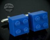 LEGO Blue Cufflinks