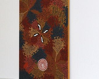 Jillian Stockman Nungurrayi Aboriginal Art Dot Painting, Australia, 20th century