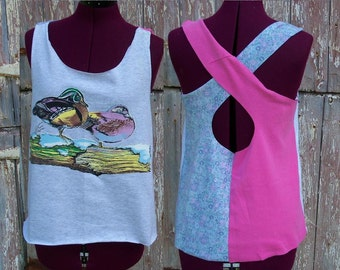 Size Small Wild Ducks Upcycled Tank Top DIY