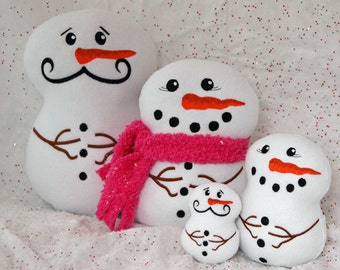 In the Hoop Snowman Softies Set Machine Embroidery Design Files Instant Download