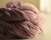 Sweetly Lace/ Don't Blink pink 70% superwash merino, 30 silk, hand dyed