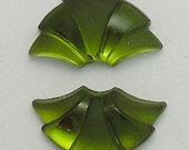 Small Art Deco foiled matte glass fans in 5 Colors (2)