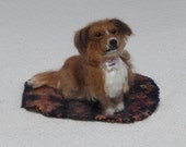 Felted Miniature of your Dog / Cute / Handmade Poseable Art Animal Sculpture / Mixed breed