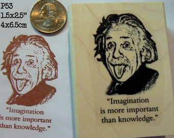 Albert Einstein rubber stamp P53