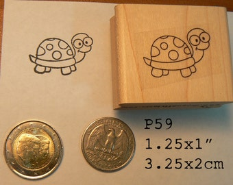P59 turtle rubber stamp