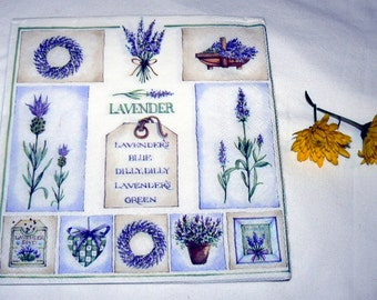 2 Napkins  from Germany Lavender