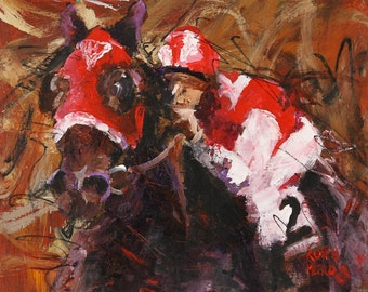 Seabiscuit  Art Print of Original Acrylic Painting 8x10