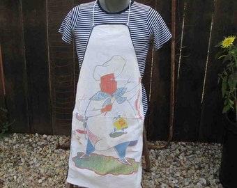 Big Boy Chef Apron BBQ Novelty Vintage Apron 50s vintage Cartoon Kitchen barbeque men and women