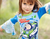 Poor Pitiful Pearl Girls Buzz Light year  Ruffle dress OOAK