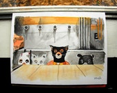 Fantastic Mr. Fox - watercolor & gouache painting