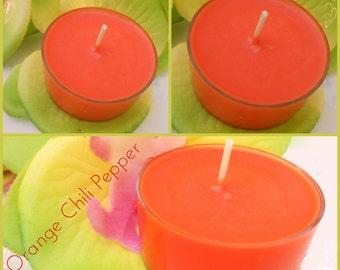 Orange Chili Pepper Soy Tealights
