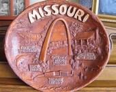 Missouri State Souvenir Plate Bowl