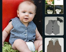 Toddler Boys Vest size 18months- 4T Customize your vest with hat or Necktie