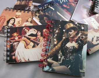 Rocky Horror Picture Show Mini Notebook - Recycled Trading Cards