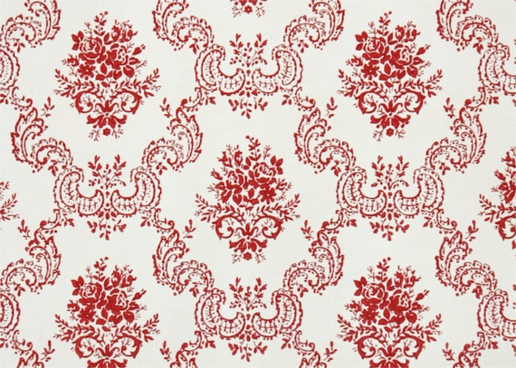 Red And White Wallpaper 1950s vintage wallpaperthe yard red and white victorian