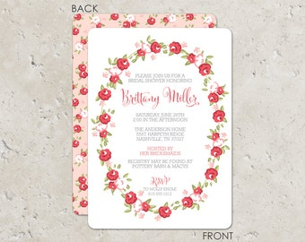 Sweet Roses Bridal Shower Invitation